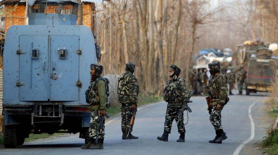 Officials on Thursday morning said that two militants were killed in Bijbehara in south Kashmir's Anantnag district after a gun battle with security forces. The bodies of the two militants have been retrieved from the site of encounter. (ANI File)