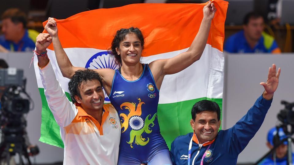 Afile photo of Indian wrestler Vinesh Phogat.
