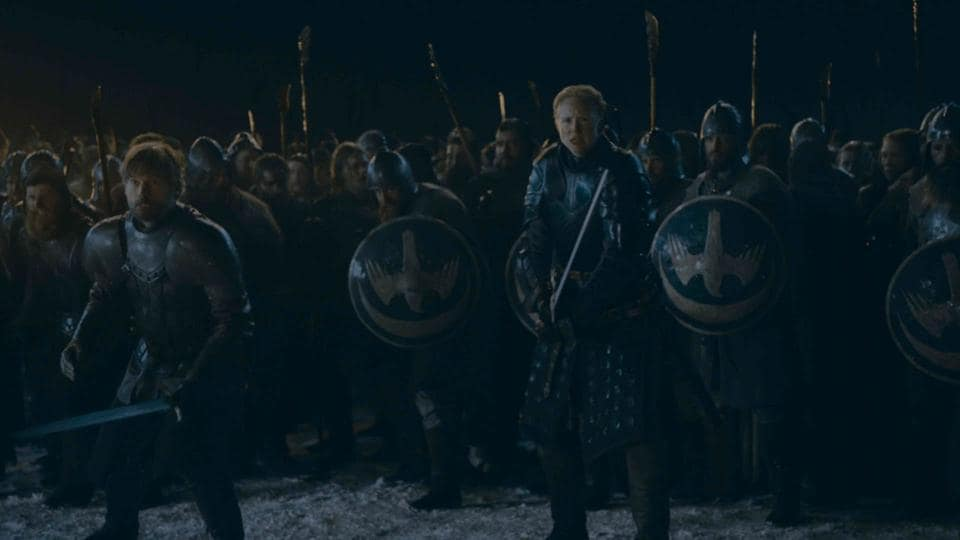 Jaime and Brienne are ready for the battle. Game of Thrones, HBO and related service marks are the property of Home Box office, Inc. All rights reserved.