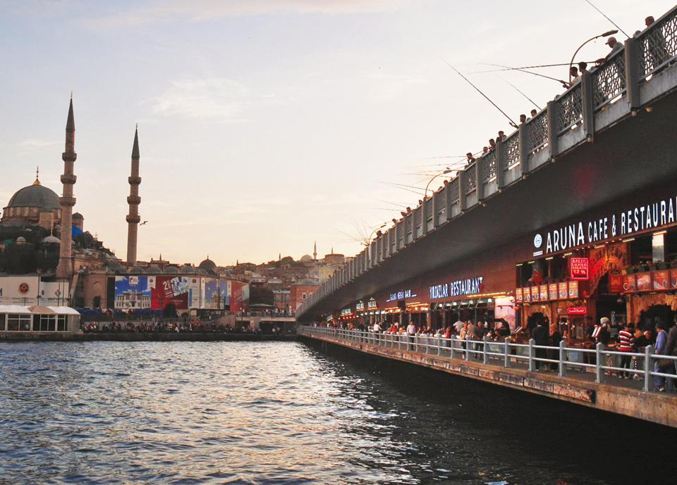 Galata is a lively neighbourhood with the 14th-century Galata Tower, bars, family-run restaurants and small shops