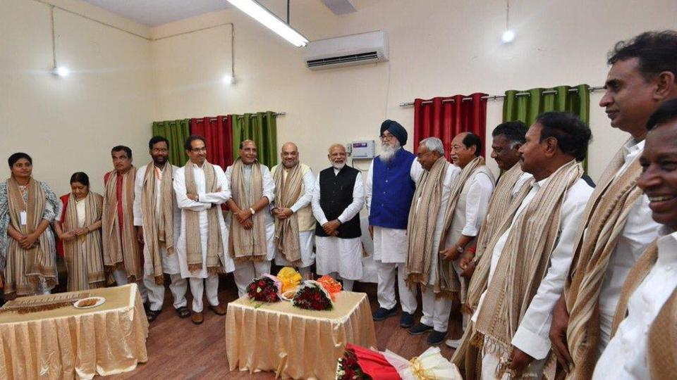 """In a brief interaction with journalists after filing his nomination papers, Modi thanked the people of Varanasi, tens of thousands of whom turned up at his roadshow in the city on Thursday, """"for their love and affection""""."""