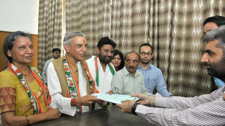 Congress candidate Pawan Kumar Bansal filed his nomination papers on Friday.