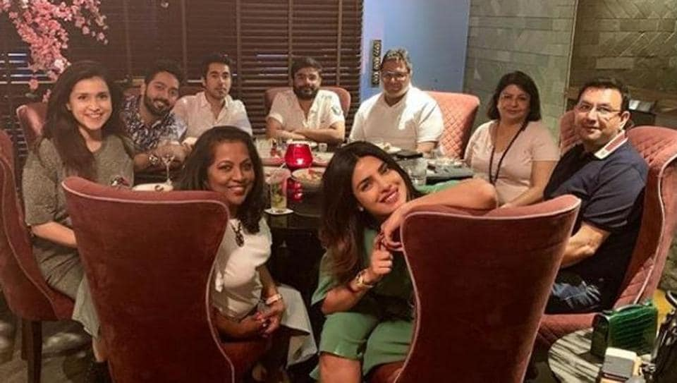 Priyanka Chopra with her family members in Mumbai.
