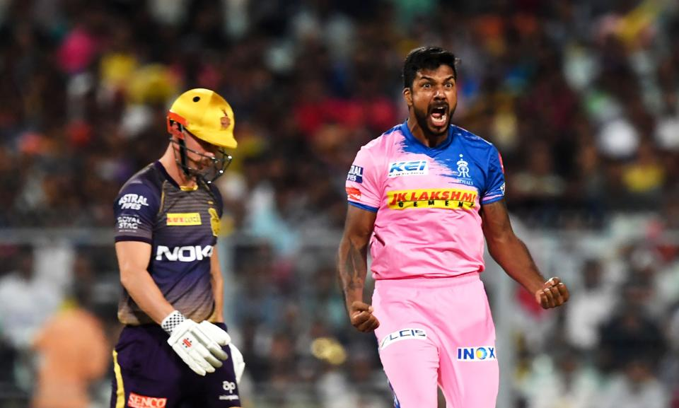 Varun Aaron got the Rajasthan Royals off to a great start with the wickets of Chris Lynn and Shubman Gill. (AFP)