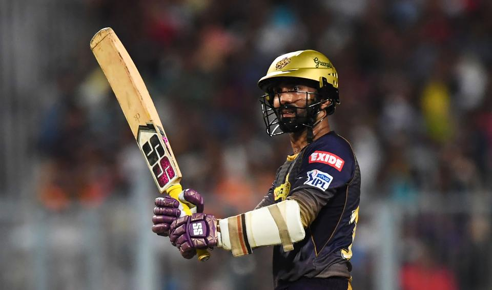 However, Dinesh Karthik played a fantastic innings of 97* runs to help KKR post 175/6 in 20 overs. (AFP)