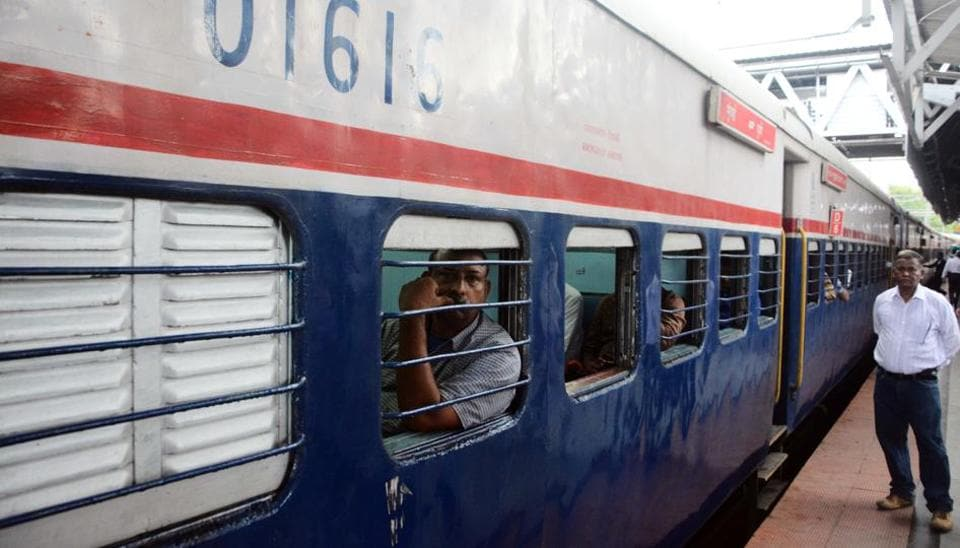 Coconut thrown from train injures woman