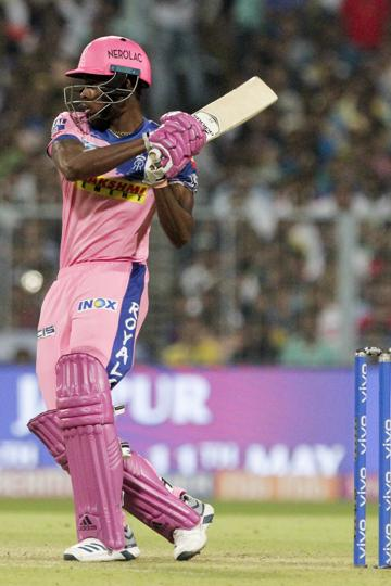 Jofra Archer remained unbeaten on 27 runs from 12 balls as RR beat KKR by three wickets. (AP)
