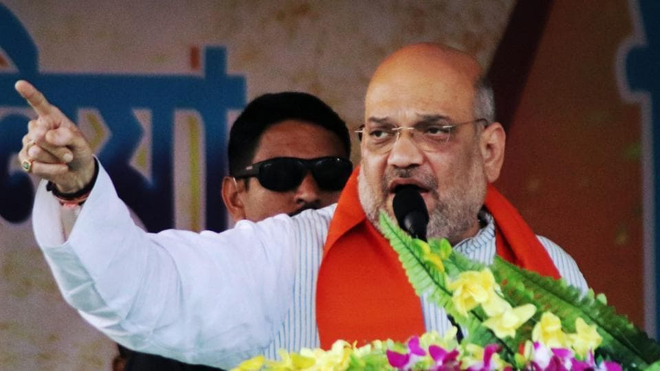 BJP President Amit Shah accused five generations of the Nehru-Gandhi family of failing to removed poverty in the country.