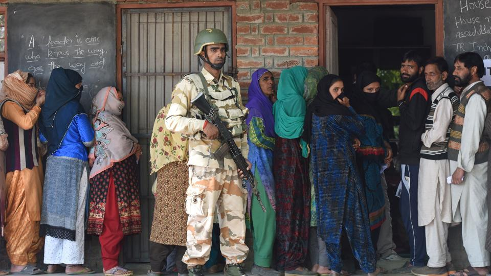 Six assembly constituencies (AC) out of the 16 in Jammu and Kashmir's Anantnag voted on 23 April.