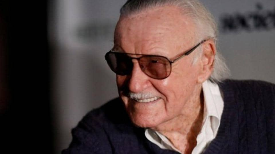 Marvel Comics co-creator Stan Lee poses at a tribute event Extraordinary: Stan Lee.