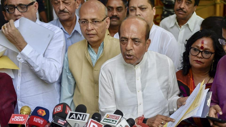 """Former Railway Minister Dinesh Trivedi, who is also a sitting MP from Barrackpore, said this was a """"clear fraud on the people"""" and """"an attempt to hack the EVMs""""."""
