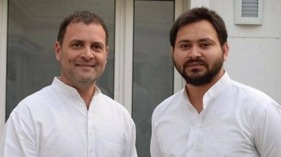 A lawyer in Ara on Saturday filed a case  against Rahul Gandhi and Tejashwi Prasad Yadav.