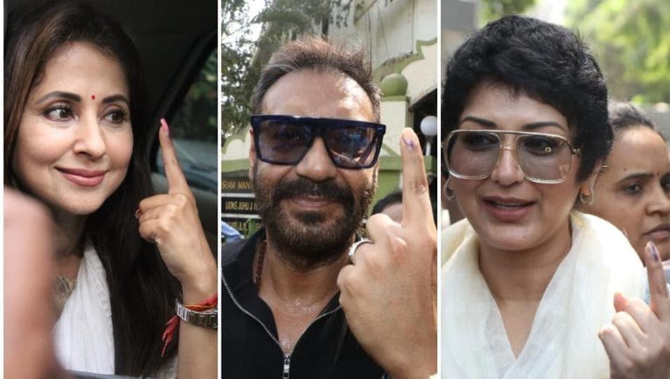 Urmila Matondkar, Ajay Devgn, Sonali Bendre and SalmanKhan among others stepped out to vote.