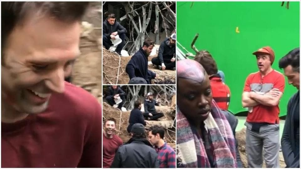 Chris Evans, Robert Downey Jr, Mark Ruffalo and many others were seen together on the film's sets in this video by Chris Pratt.