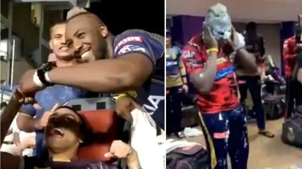Andre Russell celebrates his birthday after his all-round performance led KKR to a 34-run win against MI.