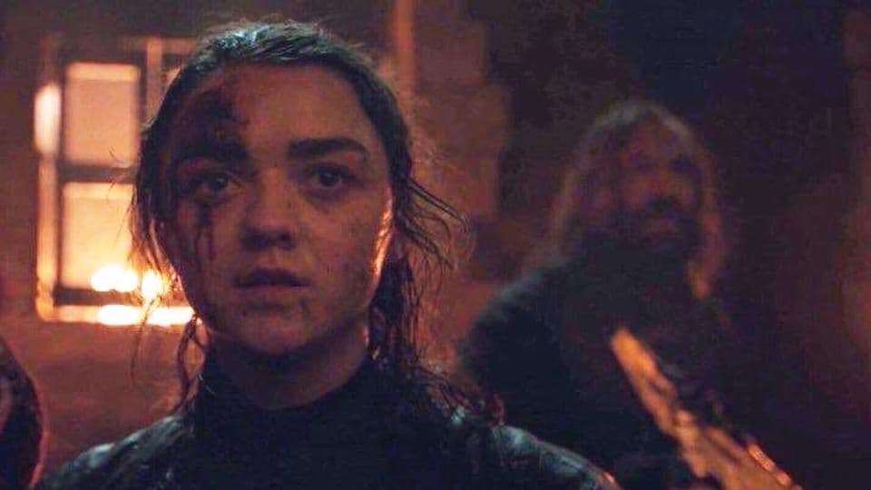 Game of Thrones season 8 episode 3 review: Arya Stark in a still from the Battle of Winterfell.