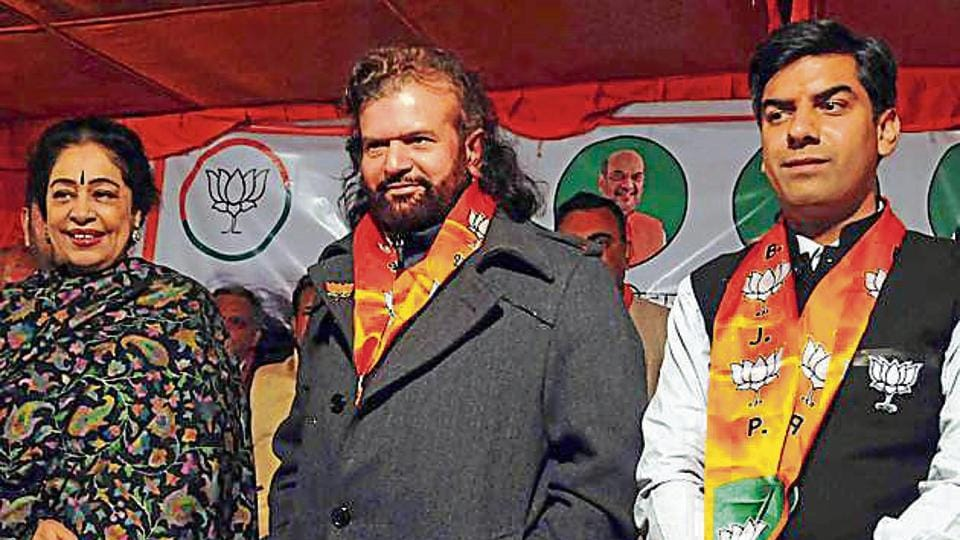 Hans is pitted against Congress's two-time MLA Rajesh Lilothia and Aam Aadmi Party's Gugan Singh, a former legislator from Bawana.