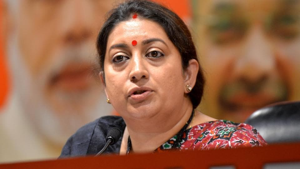 Union minister and BJP candidate from Amethi Smriti Irani, who was campaigning in the area, stopped a meeting and rushed to Gobardhanpur village in the district.