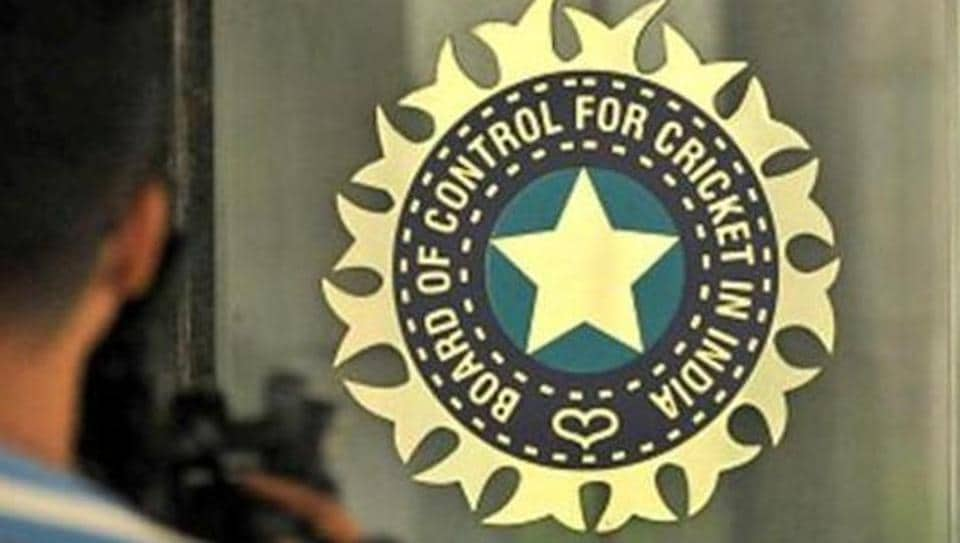 A view of logo of the Board of Control for Cricket in India (BCCI) during a Council meeting.
