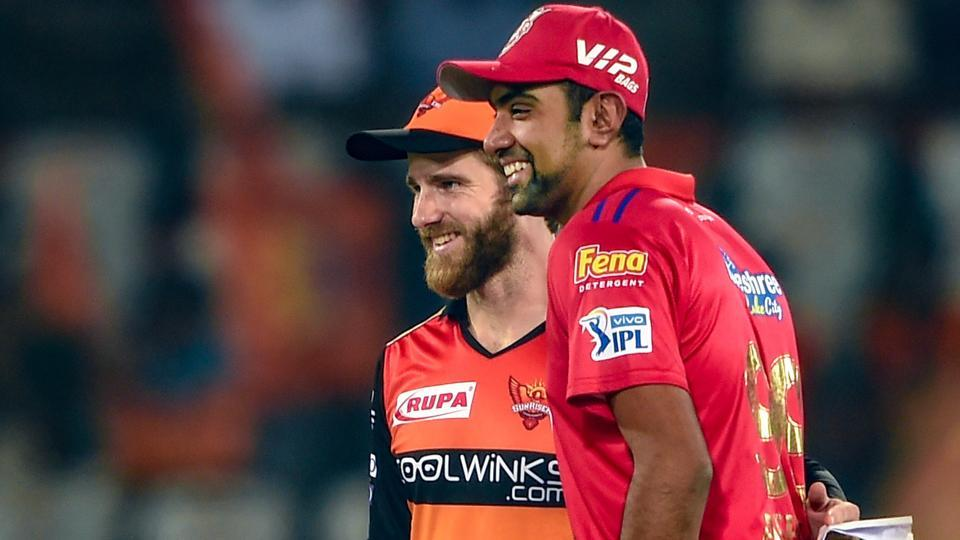 File photo of then Skippers of SRH Kane Williamson and KXIP Ravichandran Ashwin.