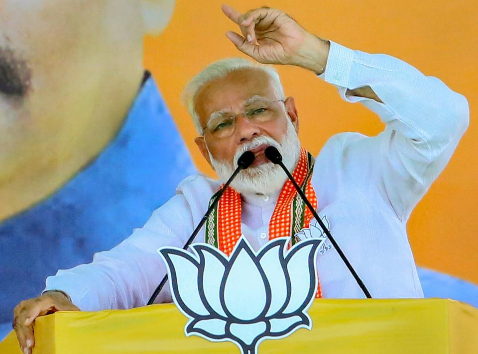 "In a fierce attack on West Bengal chief minister and Trinamool Congress chief Mamata Banerjee, Prime Minister Narendra Modi on Monday claimed that once the results of the Lok Sabha elections are out, TMC lawmakers in the state would desert the party to join the BJP. ""Even today, didi, 40 of your MLAs are in contact with me,"" Modi said at a rally in Serampore in Bengal. (PTI)"