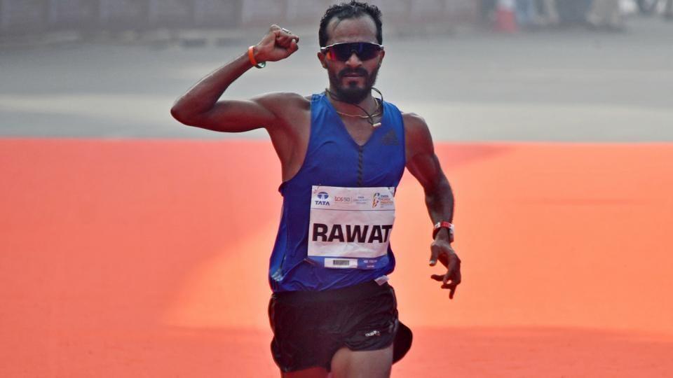 Indian Elite winner, Nitendra Singh Rawat finishes top among Indian contestants during Tata Marathon.