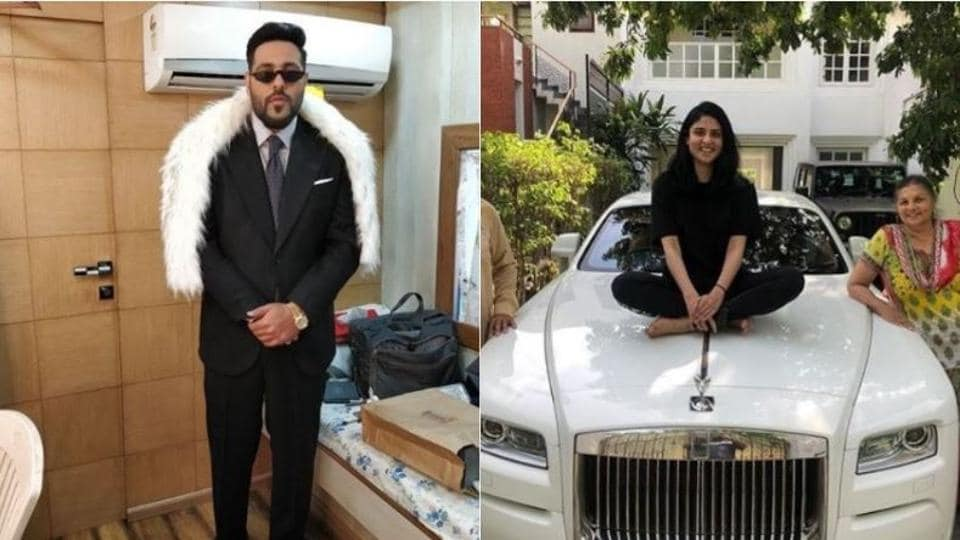 Badshah shared picture of his car with family.
