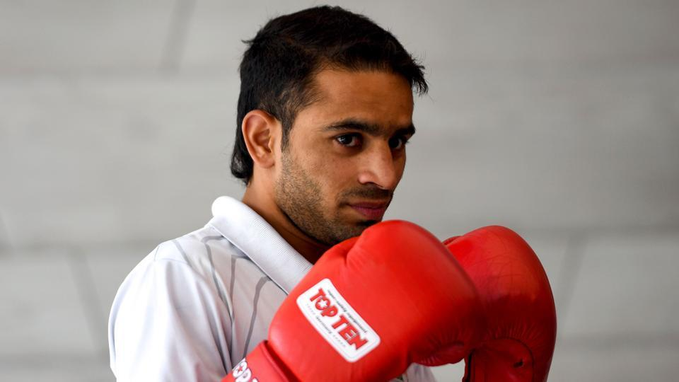 Indian boxer Amit Panghal (in photo) and Gaurav Bidhuri have been recommended for Arjuna award