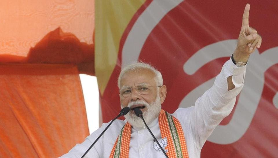 The prime minister also accused the Congress of rallying behind parties to destabilise governments.