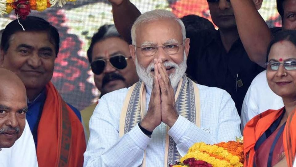 PM Modi will address an election rally in Haryana's Rohtak on May 10.