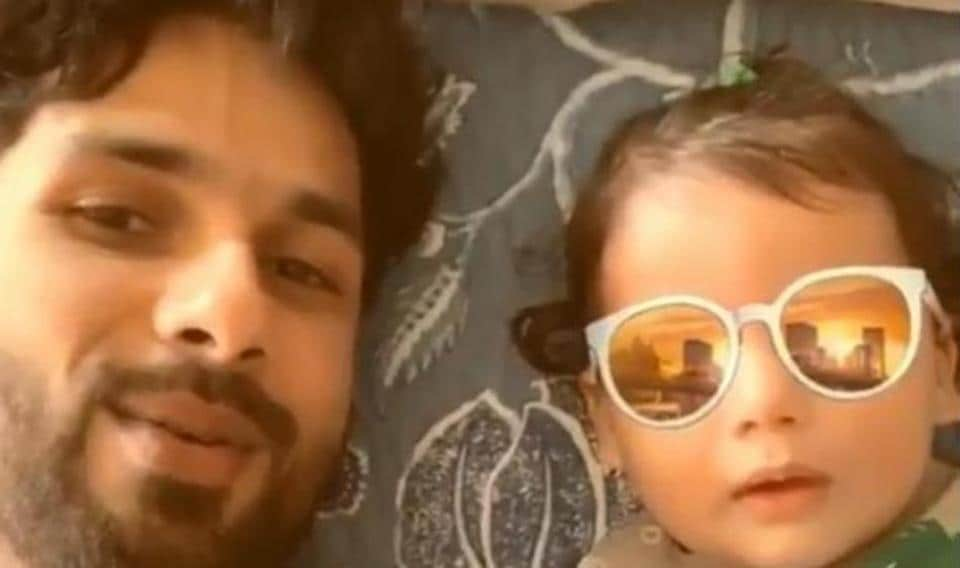 Shahid Kapoor and son Zain in a cute Instagram video.