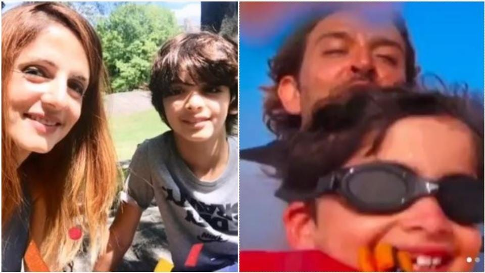 Hrithik Roshan and Sussanne Khan shared videos of their son Hridaan on his birthday.