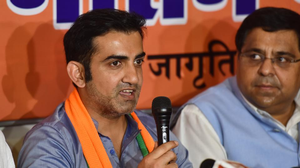 Gautam Gambhir, BJP's East Delhi candidate, during a press conference at Jagriti Enclave in New Delhi,  on Thursday, April 25, 2019.