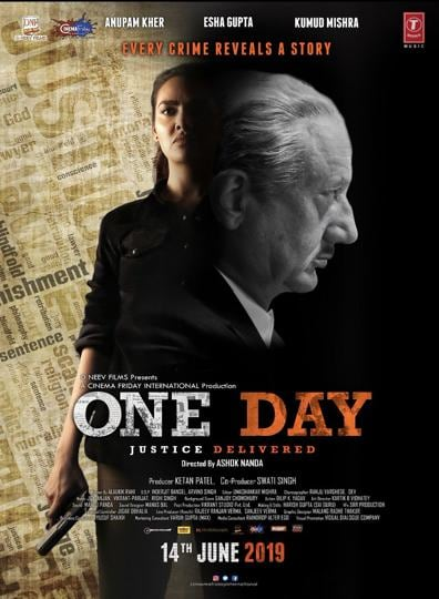 The first poster of One Day Justice Delivered.