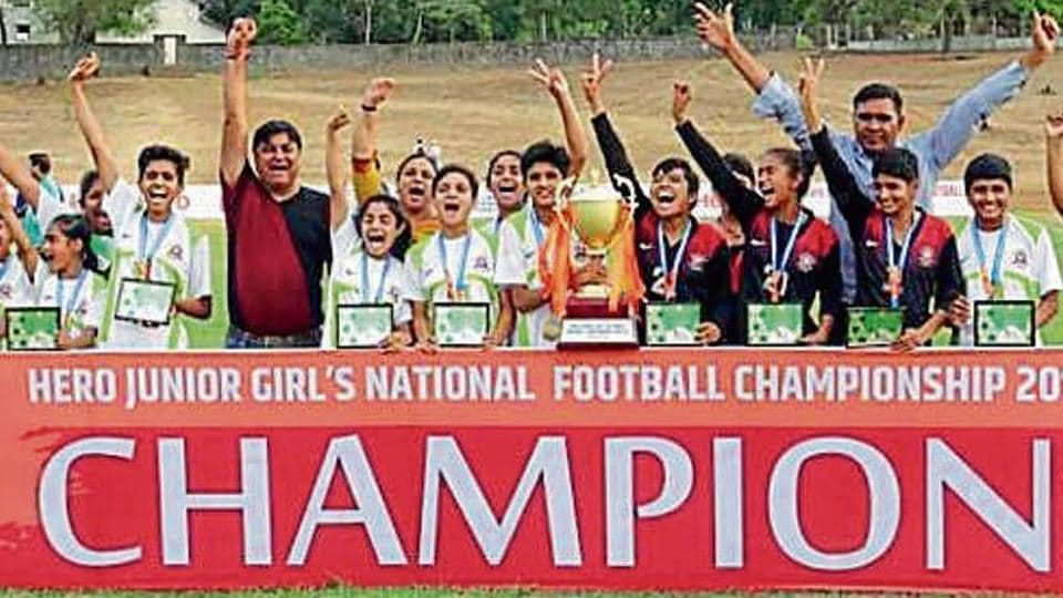 Thirteen girls from Vinod football Academy in Chuli Bagrian Village in Hisar help the hill state win its maiden girls national title.
