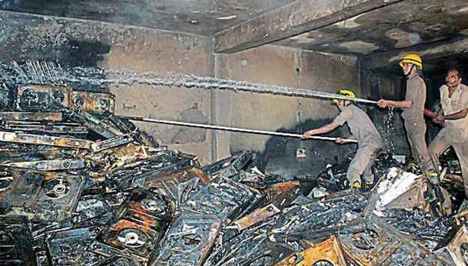 The fire first spread on the ground floor and the smoke filled the entire house.