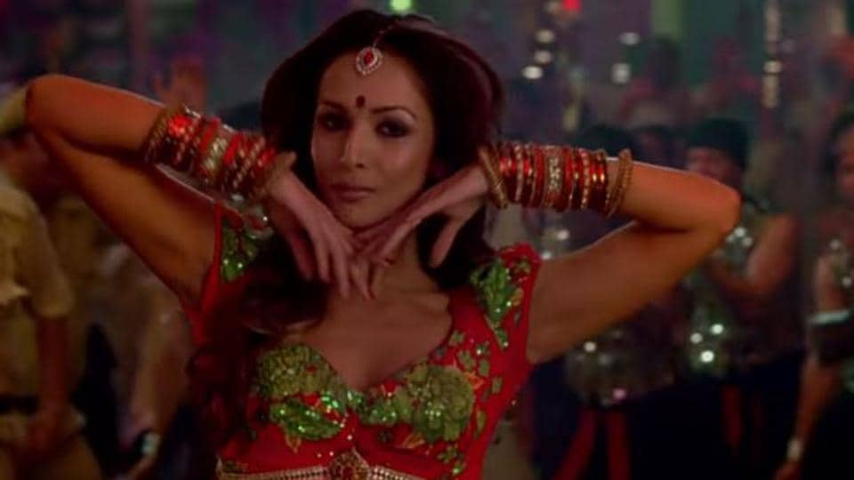 Malaika Arora in a still from the Munni Badnaam video.