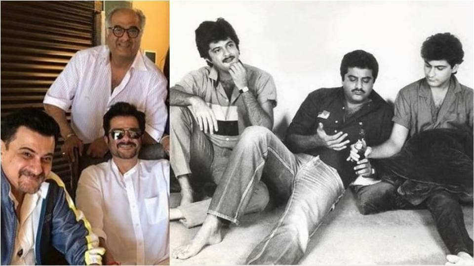 Sanjay Kapoor, Anil Kapoor and Boney Kapoor in a picture from the 1980s.