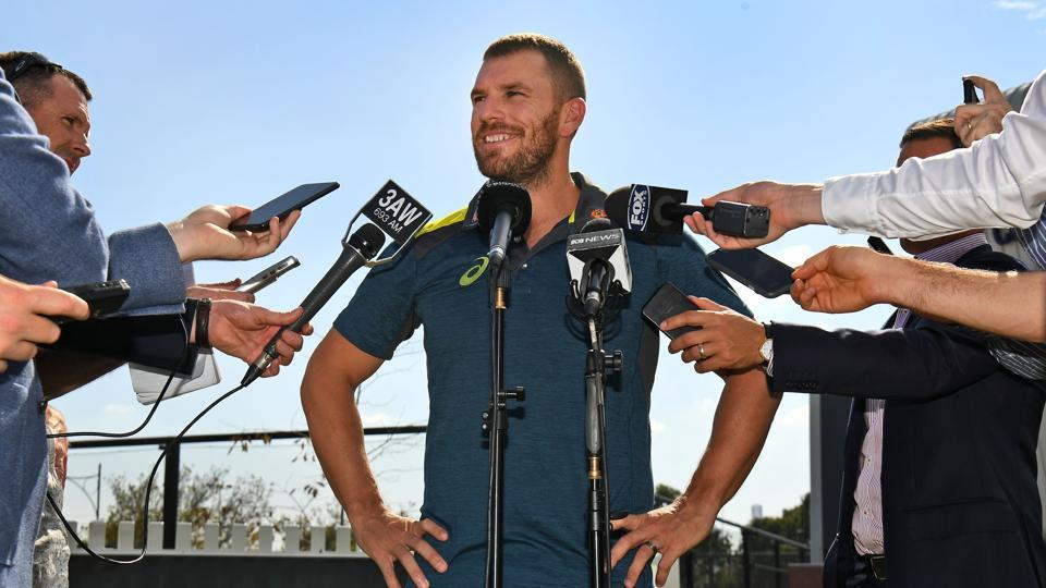 File image of Aaron Finch