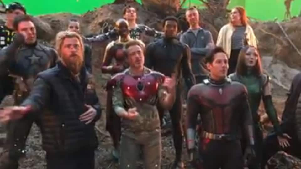 Bloodied Avengers Endgame Cast Sings Happy Birthday For Iron Man
