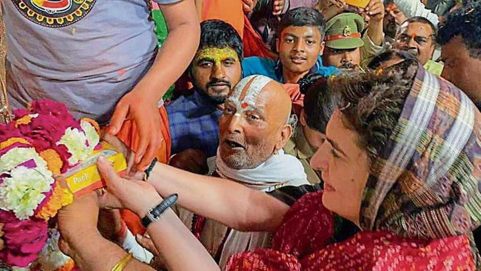 """On the road leading to Hanuman Garhi temple, which Priyanka visited, sweetmeat shop owner Ravi said: """"Ayodhya became a VIP constituency only after the BJP came to power in the state."""""""
