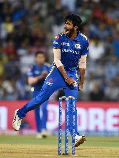 Jasprit Bumrah pulled things back for MI by dismissing both the openers. (PTI)