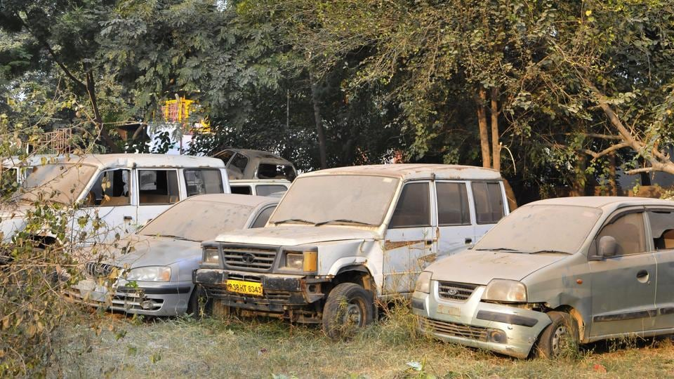 These vehicles are a hindrance as there is not enough parking space at the Pune RTO office.