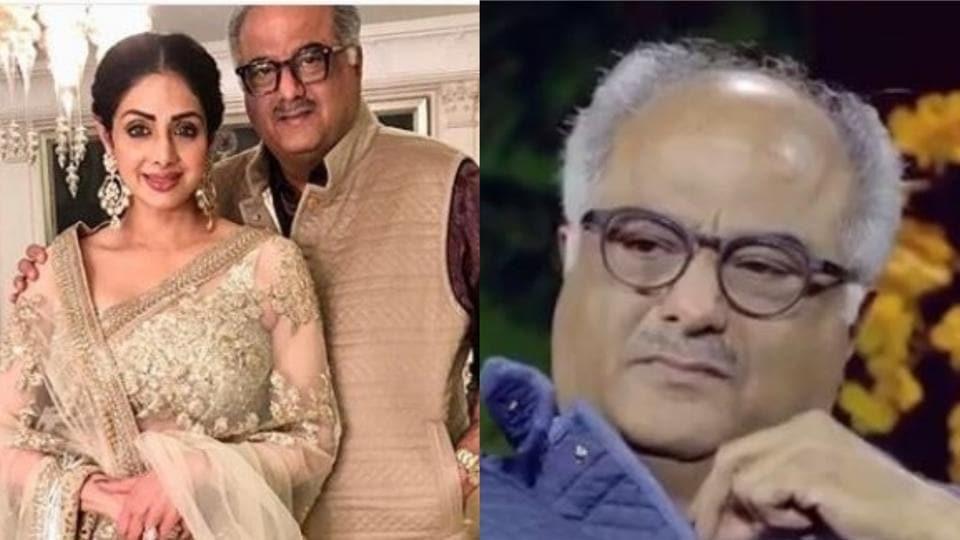 Boney Kapoor broke down while talking about Sridevi on Komal Nahta's talk show Aur Ek Kahani.