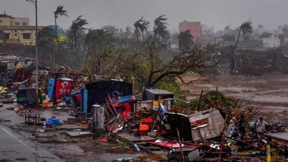 Puri: A view of the destruction caused by Cyclone Fani after its landfall, in Puri