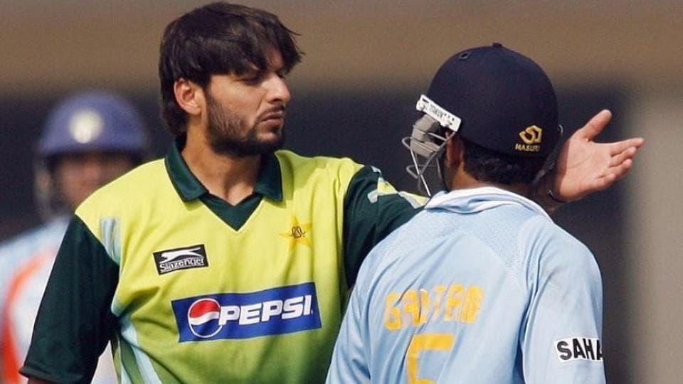 A file photo of Shahid Afridi and Gautam Gambhir.