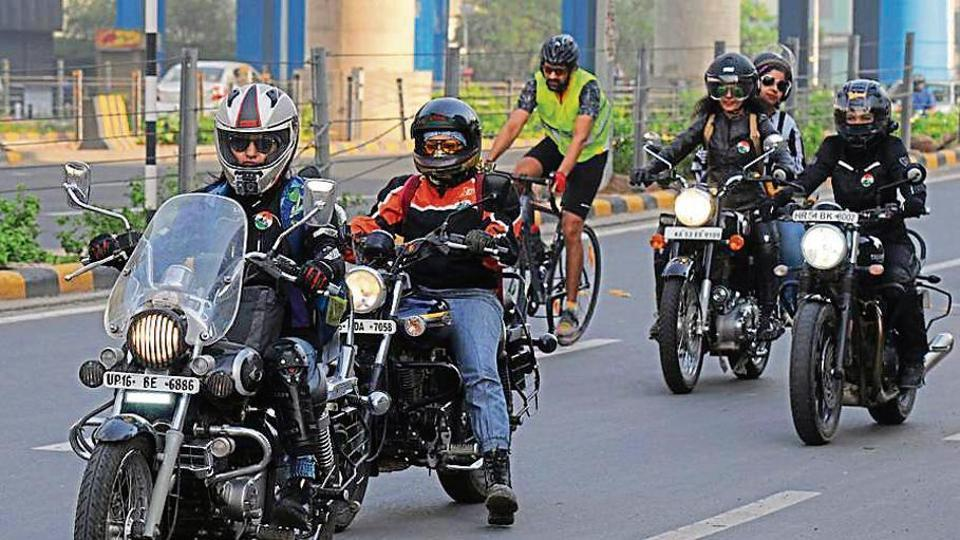 A motley group of women on their Royal Enfields, Avengers, Harley Davidsons and BMWs rode into the city on Saturday to celebrate the 13th International Female Ride Day.