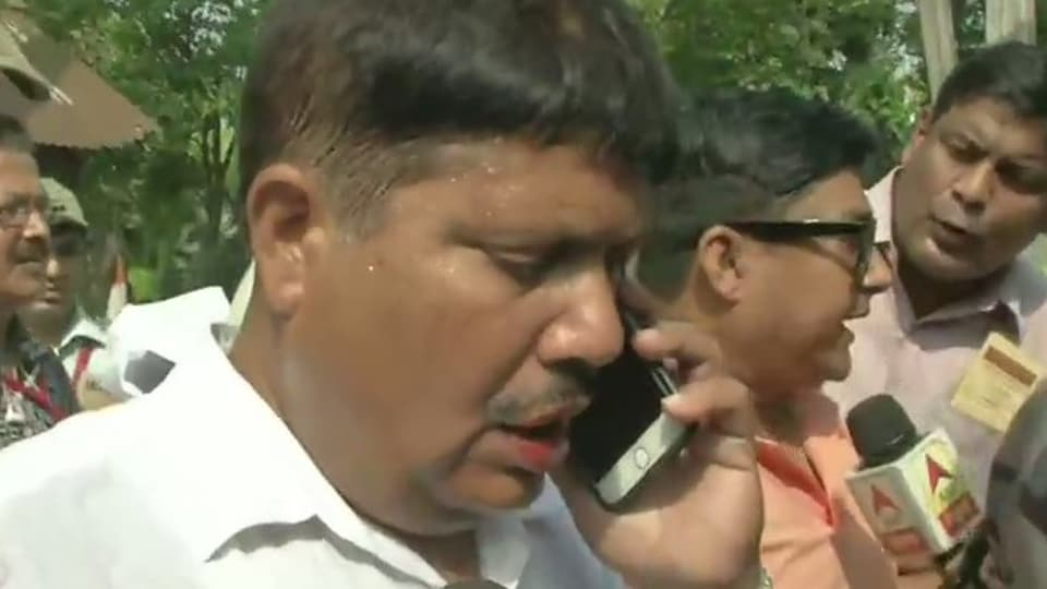 The BJP's candidate in West Bengal's Barrackpore parliamentary constituency Arjun Singh alleged he was attacked by goondas of the Trinamool Congress