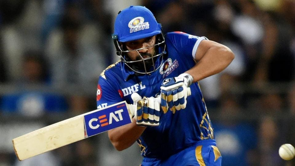Rohit Sharma in action.