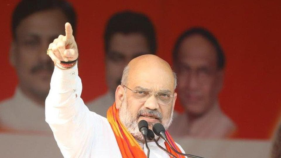 BJP chief Amit Shah on Tuesday alleged that West Bengal chief minister Mamata Banerjee is not allowing people to chant 'Jai Shri Ram' in the state.